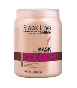 Stapiz Sleek Line maska z jedwabiem do włosów farbowanych Repair&Shine mask colour 1000ml