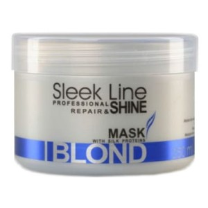 Stapiz Sleek Line maska z jedwabiem do włosów blond Repair&Shine Mask Blond 250ml