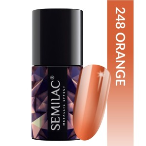 Semilac 248 Metallic effect Orange