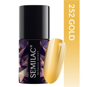 Semilac 252 Metallic effect Gold