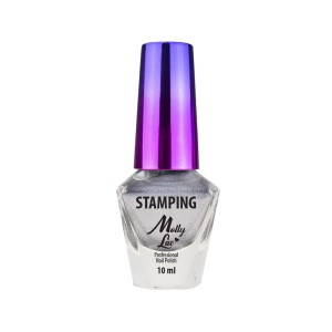 Molly Lac Lakier do stempli i stampingu 10ml Srebrny Nr 3