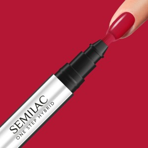 Semilac S550 One Step Hybrid Marker Pure Red 3ml lakier hybrydowy 3w1